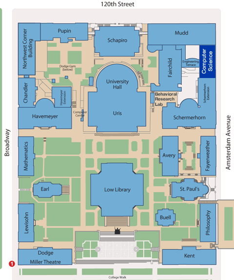 Directions to the Computer Science Building
